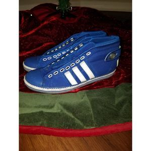 Adidas Blue and White Sneakers SZ8